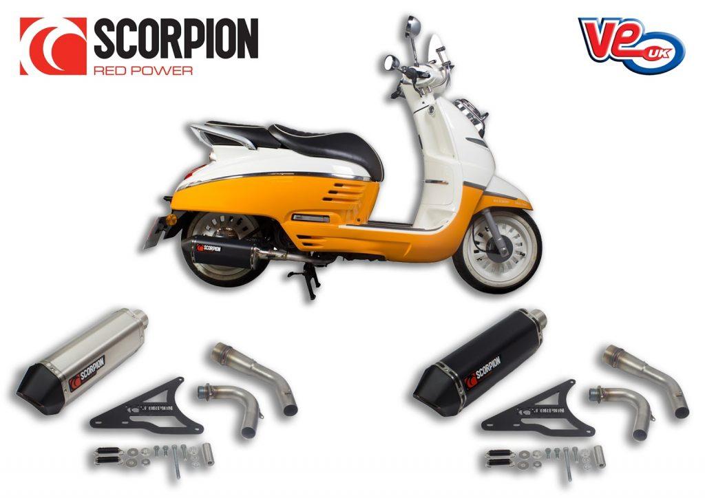 Scorpion Serket Exhaust For Peugeot Django Ve Vespa Lambretta Piaggio