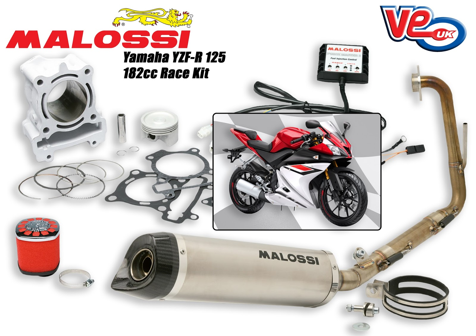 "Malossi Yamaha YZF-R 125 ""Trophy Kit"""