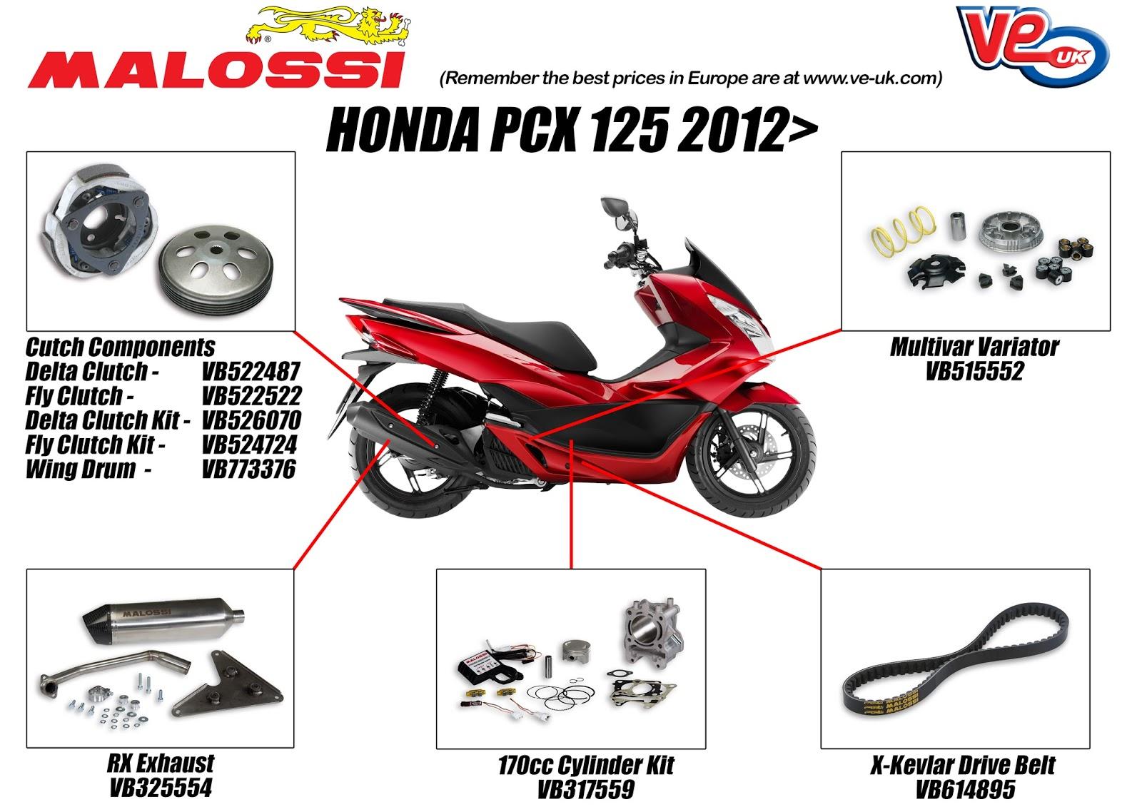 Honda PCX Tuning by Malossi