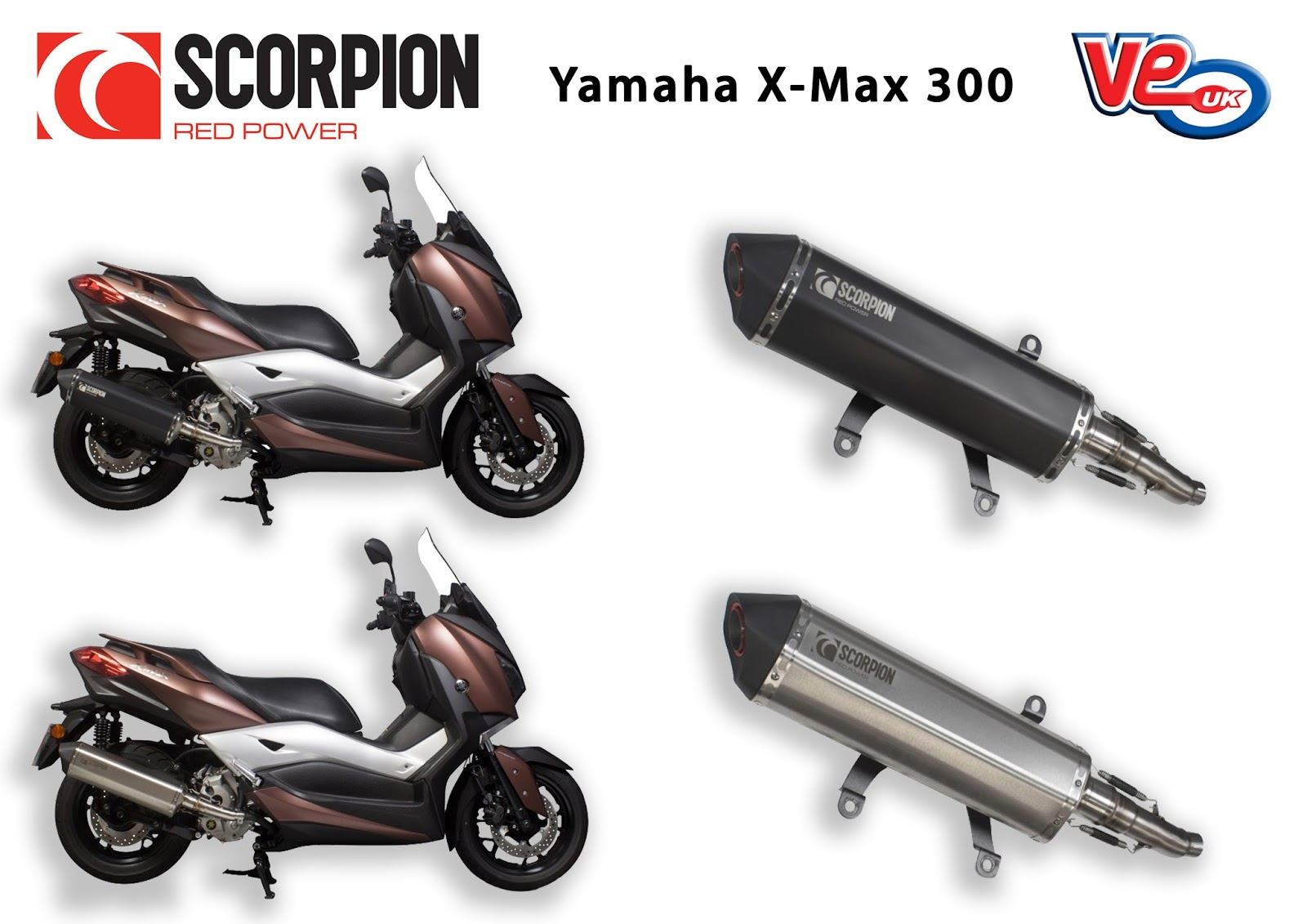 Yamaha X-Max 300 Scorpion Serket Exhausts