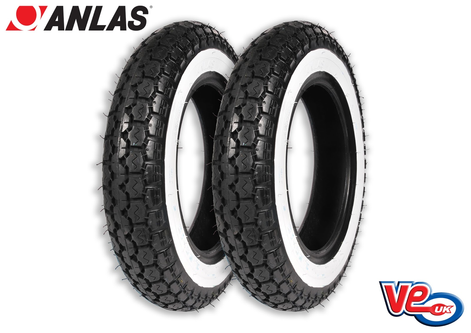 Anlas Sports White Wall 3.50x10 Tyre