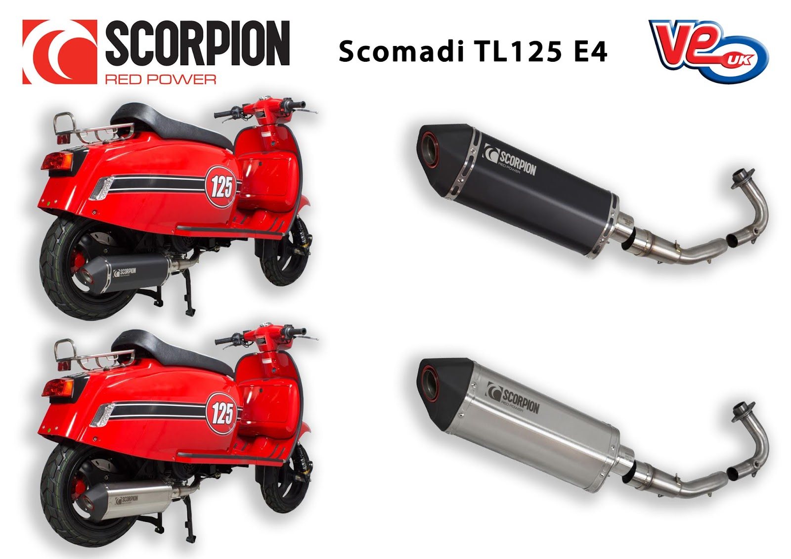 Scorpion Serket Exhaust for Scomadi TL 125 Euro 4
