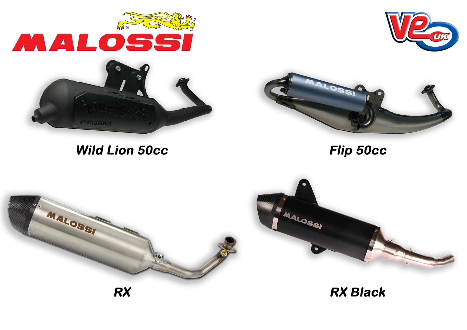 Malossi Automatic Scooter Exhaust systems