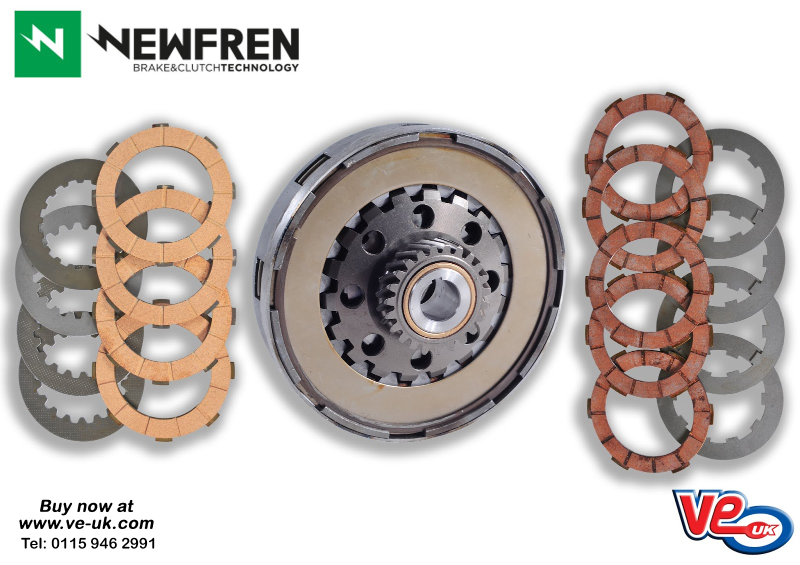 Newfren Classic Scooter Clutch Plates