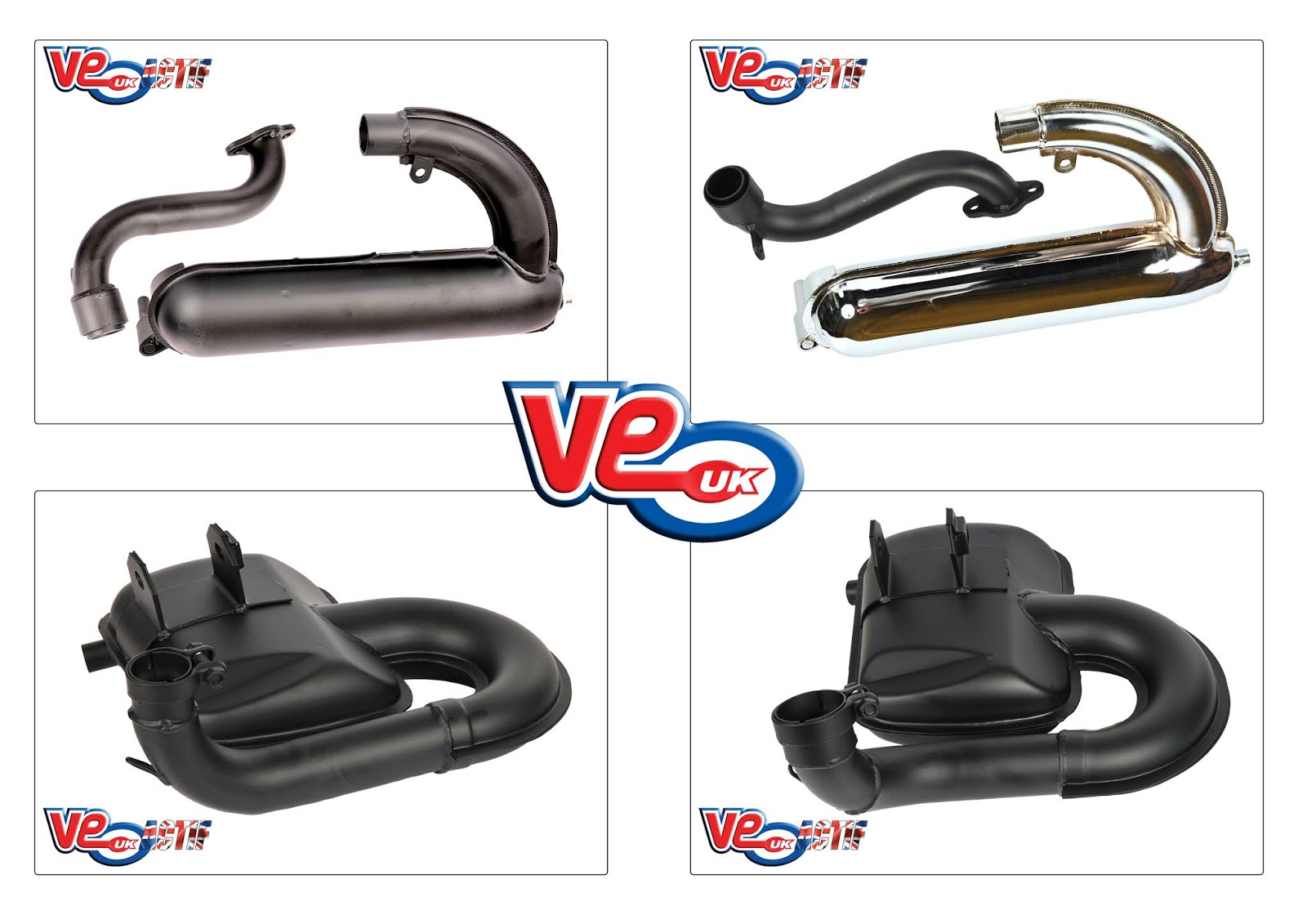 "NEW - VE Actif Vespa ""Road Race"" Exhaust Systems"