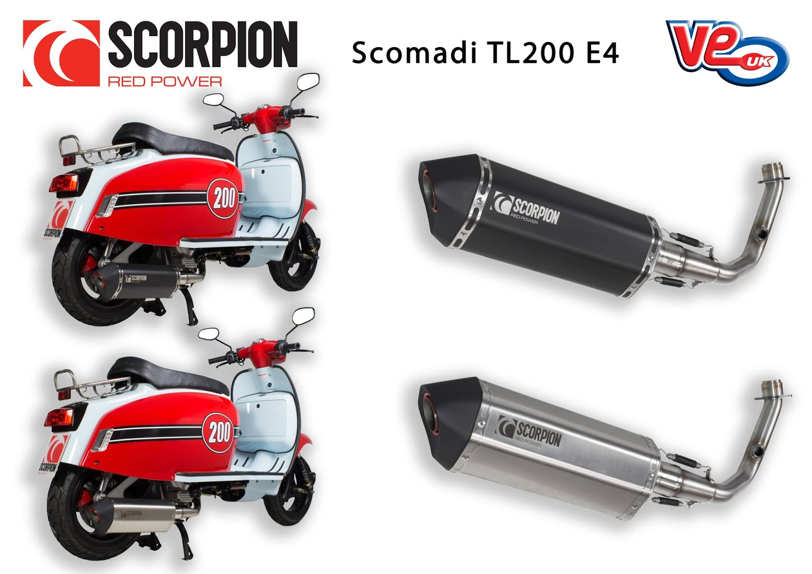 Scorpion Serket Exhaust for the Scomadi TL 200 Euro 4