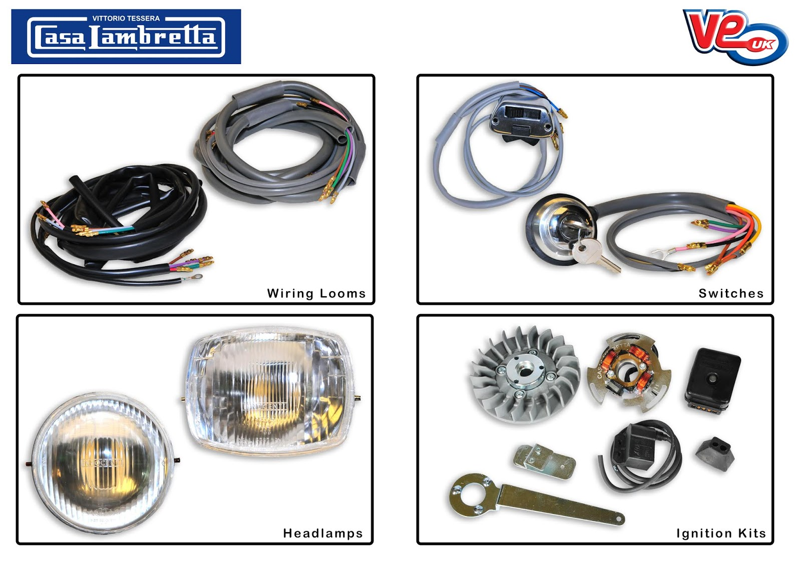 Casa Lambretta Electrical Parts