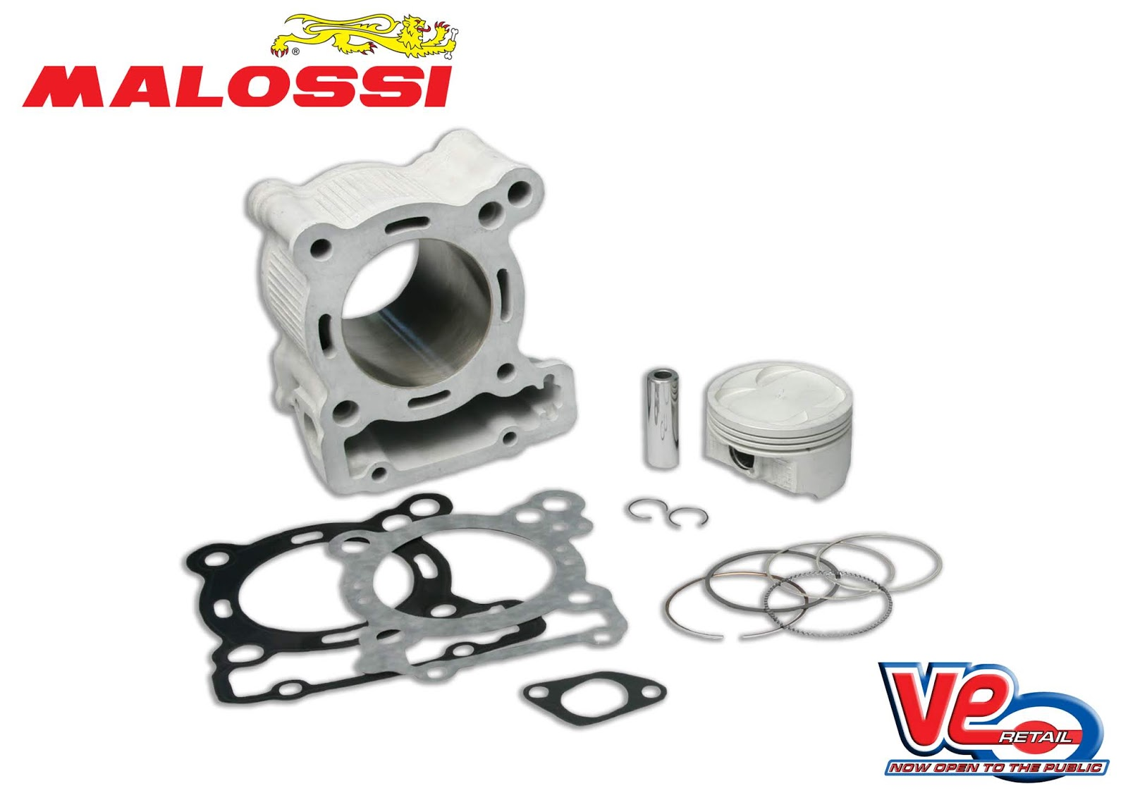 Malossi Cylinder Kit for Scomadi Leggera 200cc 4V Scooter