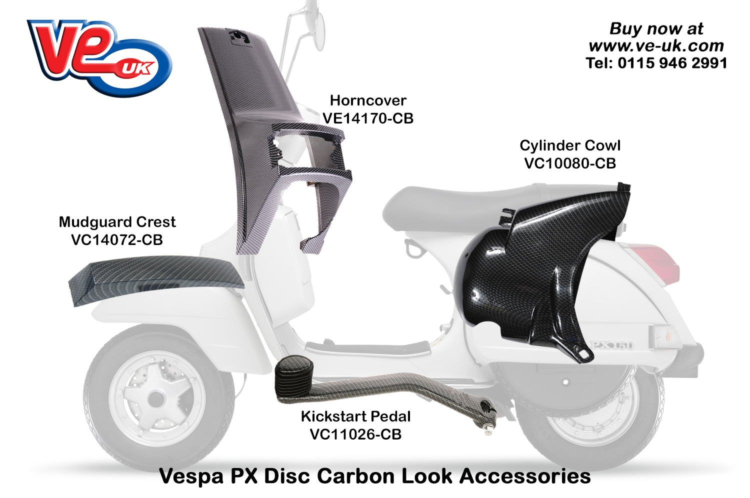 Px Disc carbon accessories