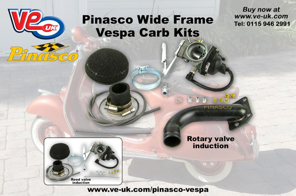 Vespa wide frame carbs